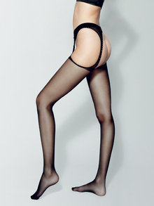 Veneziana Strippante Garter Belt Tights 20 Denier