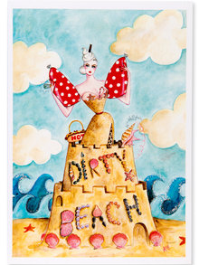 Andrea Kett Dirty Beach Greeting Card