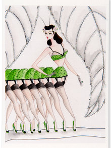 Andrea Kett Lottie Leggs Greeting Card