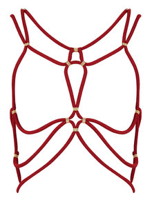 DSTM Shibari Harness Red