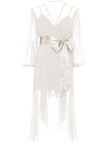 Maison de Papillon Liz Chemise and Robe Set White