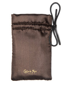 Coco de Mer Small Satin Padded Bag