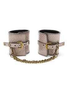 Paul Seville Grey Fawn Snakeskin Wrist Cuffs