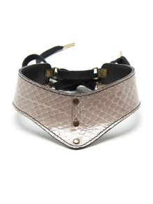 Paul Seville Grey Fawn Slim Moulded Choker w/out Ring