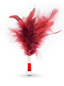 Lelo Tantra Feather Teaser Tickler Red