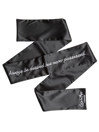 Coco de Mer 'Always Be Desired...' Silk Blindfold