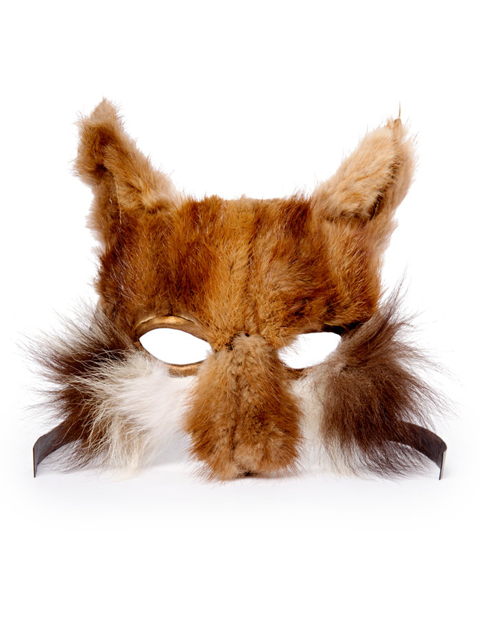 Recycled Vintage Fur Fox Mask