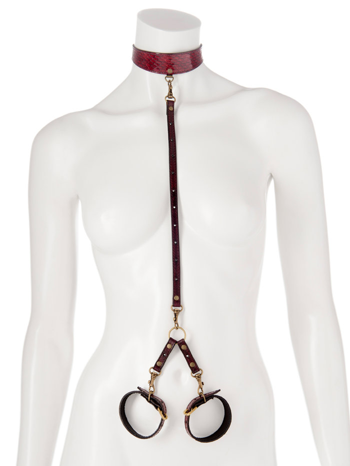 Paul Seville T-Shaped Snakeskin Restraint