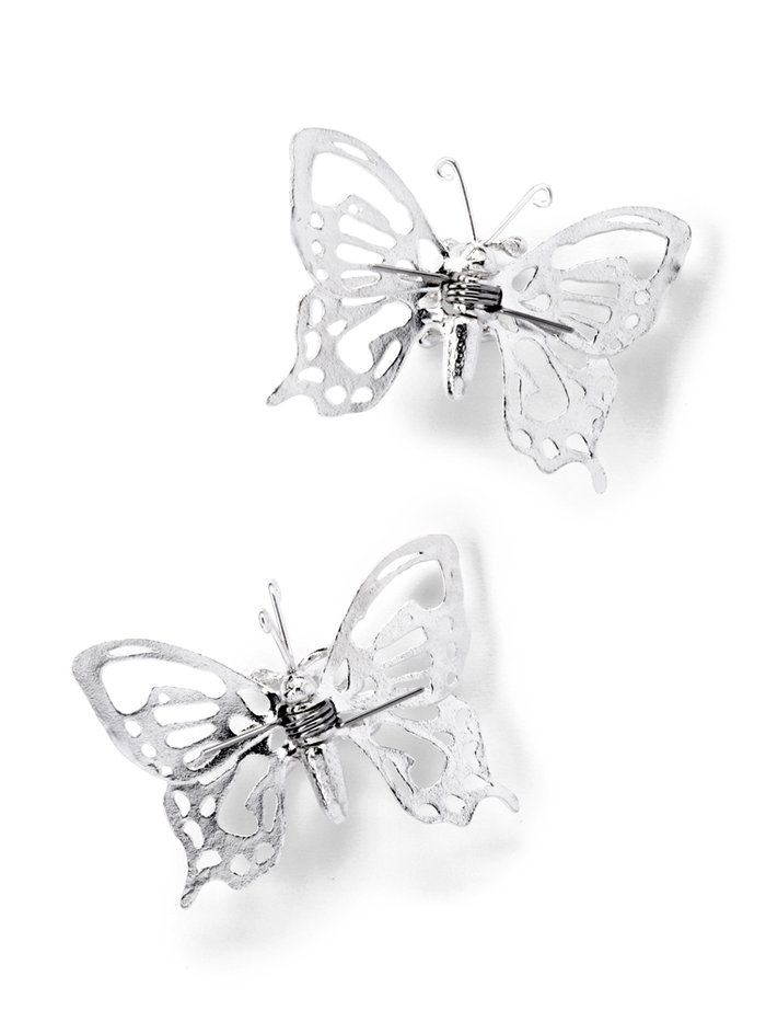Alex Monroe Sterling Silver Filigree Butterfly Nipple Clamps