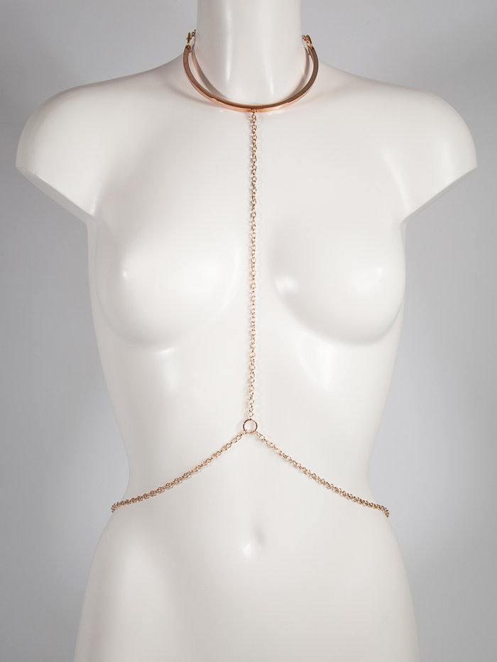 Lascivious 18k Gold Harness Necklace