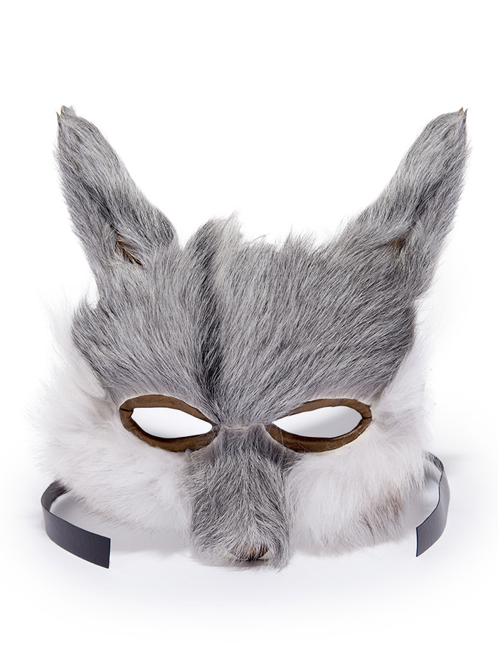 Recycled Vintage Fur Wolf Mask