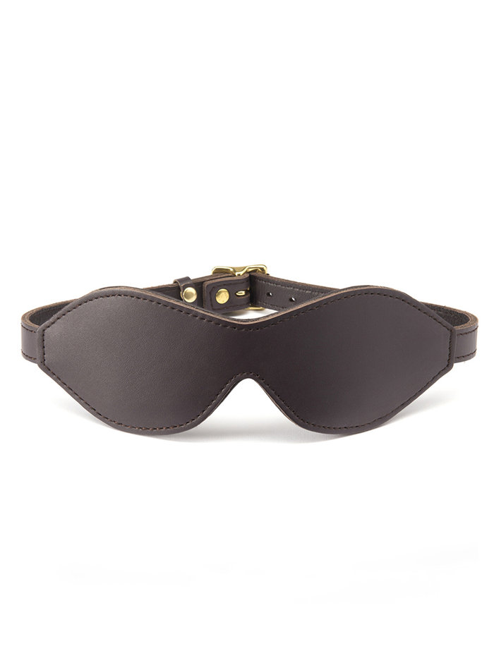 Coco de Mer Brown Leather Blindfold
