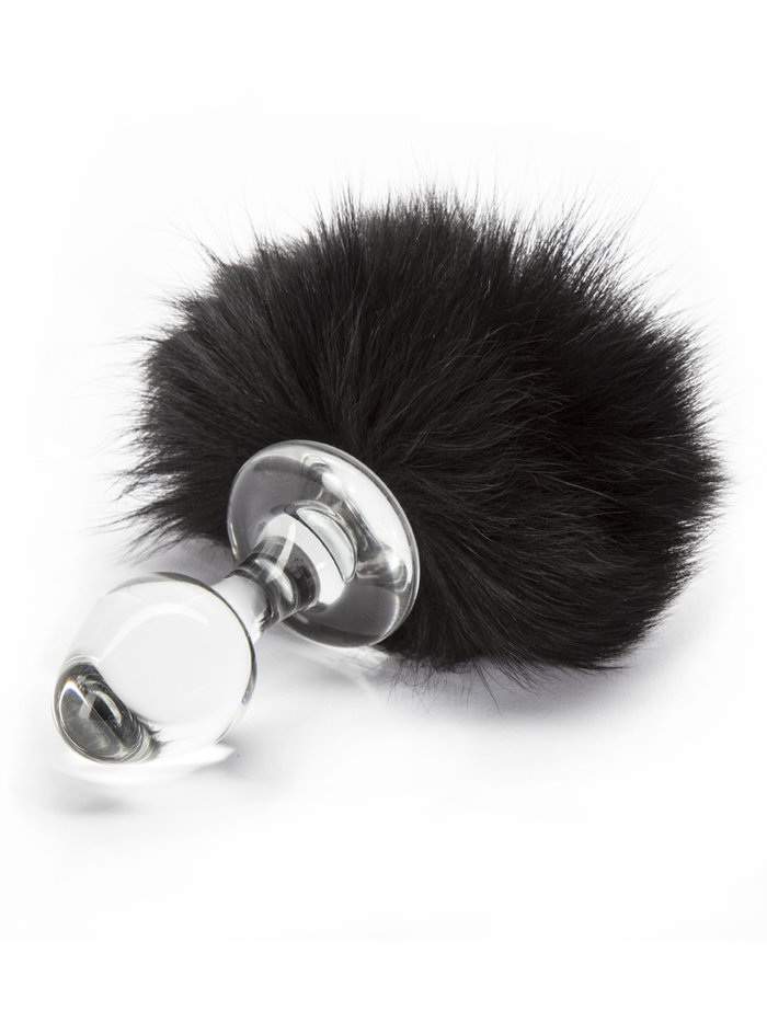 Crystal Delights Minx Magnetic Bunny Tail Black