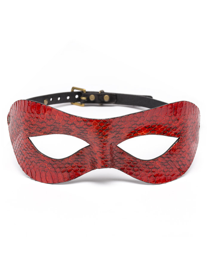 Paul Seville Red Snakeskin Moulded Eye Mask