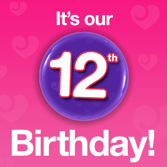 It's our 12th Birthday!