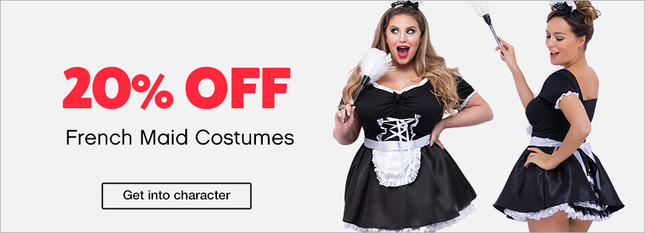 20% off french maid costumes