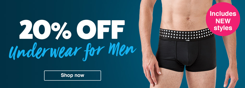 20% off Underwear for Men