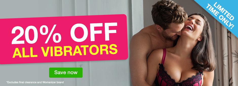 20% off all vibrators