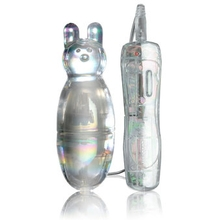 Icicles No. 33 Glass Clitoral Vibrator with Rabbit Ears