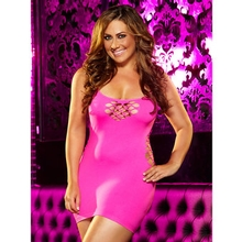 Lapdance Plus Size Cash Cage Mini Dress