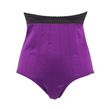 Kiss Me Deadly Fifi High Waisted Satin Knickers