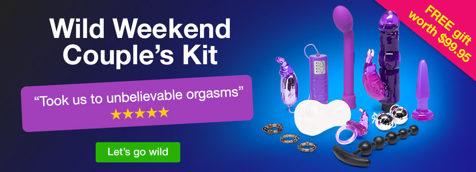 Wild Weekend Couple's Kit with FREE gift worth $99.95