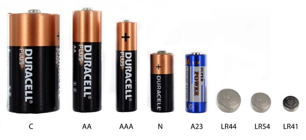 batteries Size dildo d
