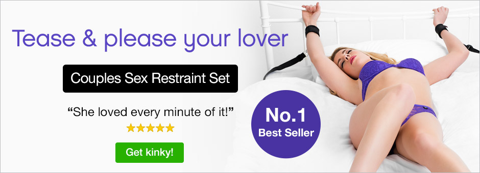 Tease and Please your lover - couples sexy restraint set purple