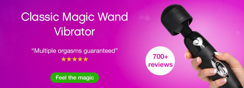 Classic Magic Wand Vibrator Black