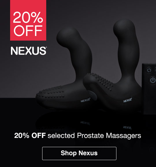 20% off selected Nexus prostate massagers