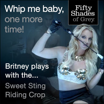 Britney Spears uses Fifty Shades of Grey bondage gear