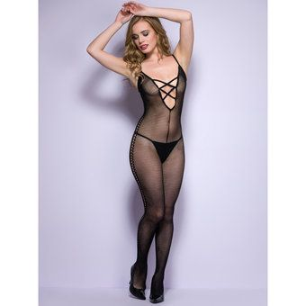 Lovehoney Plunge V-Neck Crotchless Bodystocking