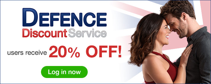 Defence Discount Service users receive 20% off!