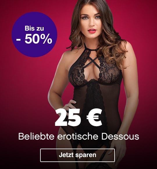 Erotische Dessous für nur 25 € mit 50% Rabatt