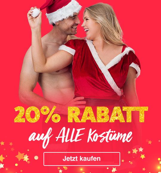 20% Rabatt auf alle Kostüme zu Weihnachten