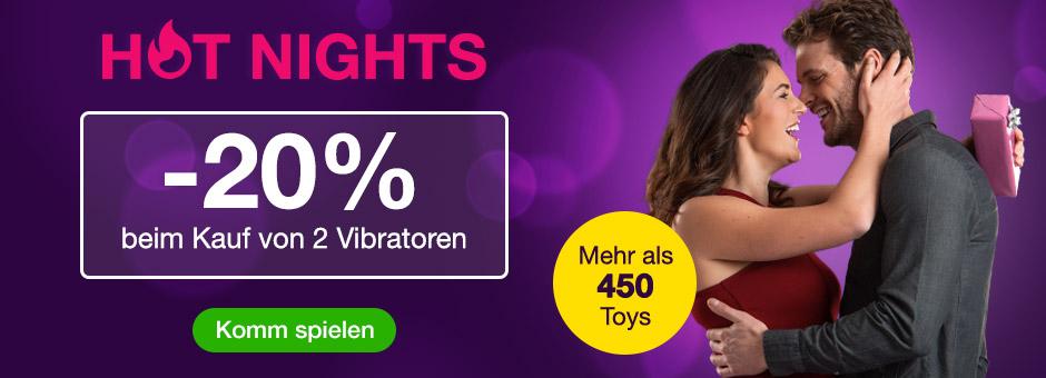 Vibratoren Deal - 20% Rabatt beim Kauf von 2