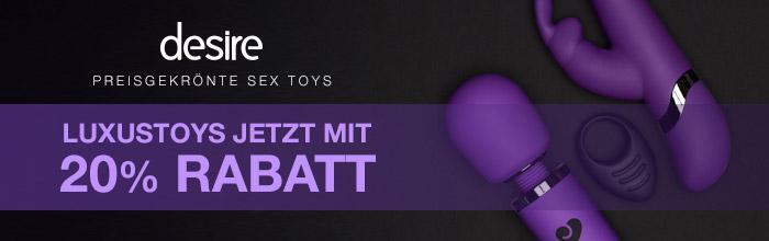 Desire Luxus Sex Toys mit 20% Rabatt