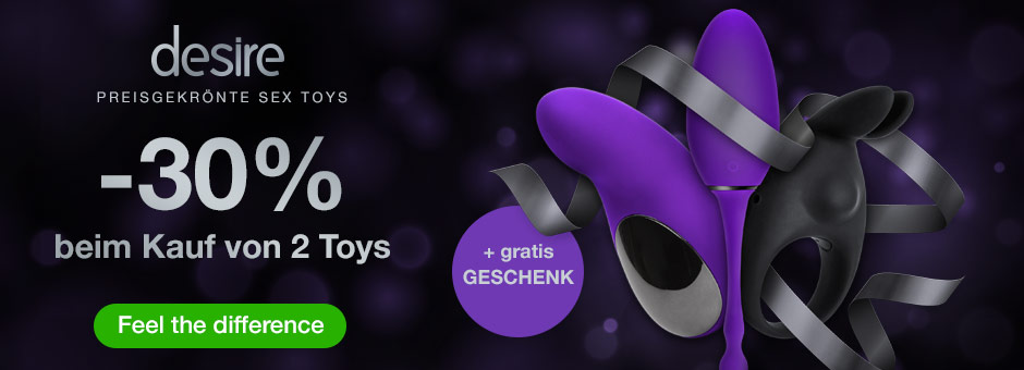 desire Deluxe Sex Toys - 30% Rabatt beim Kauf von 2