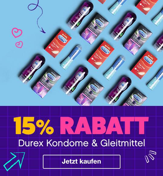 15% Rabatt auf Durex Kondome und Gleitmittel
