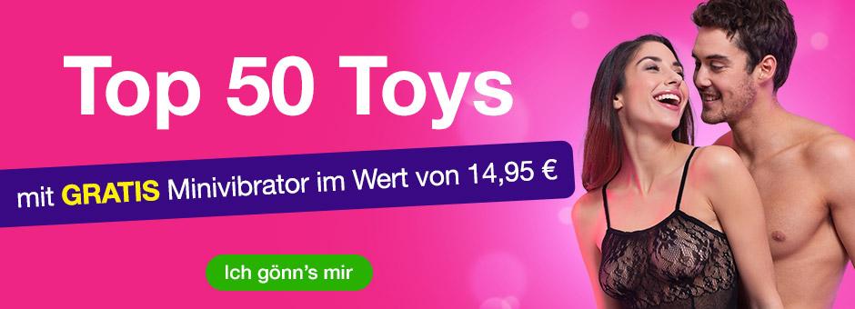 Top 50 Toys mit GRATIS Minivibrator