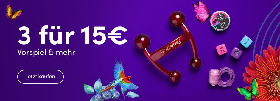 Angebot: 3 sexy Kleinigkeiten fuer 15€ - Lovehoney.de