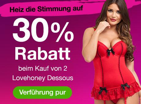 30% Rabatt beim Kauf von 2 Lovehoney Dessous