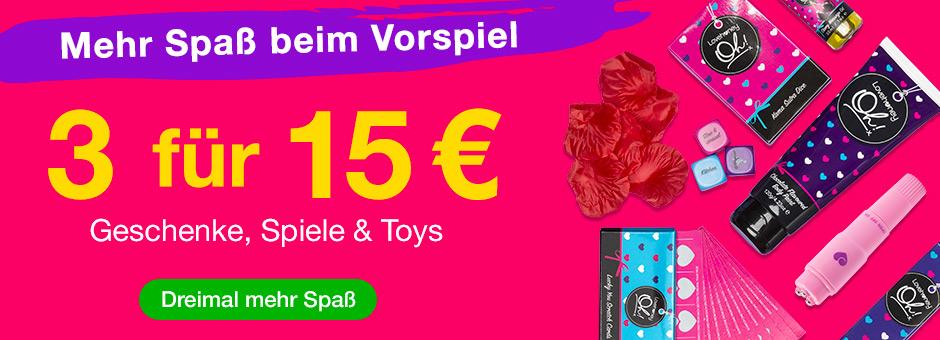 3 for €15 Geschenke, Spiele und Toys