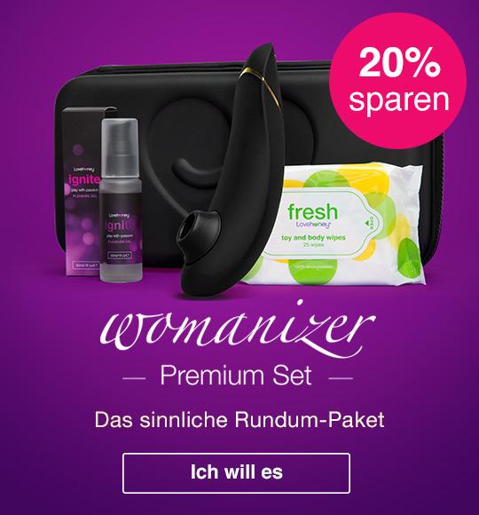 20% Rabatt auf das Womanizer Premium Rundum-Paket bei Lovehoney