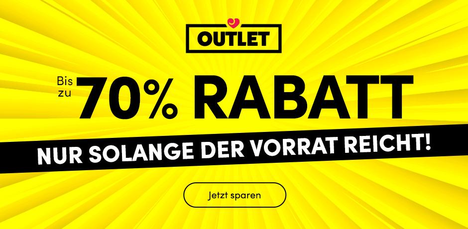 Outlet: 70% Rabatt auf ausgewählte Artikel