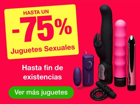 Hasta un -75% - Juguetes Sexuales