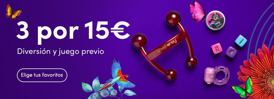 3 por €15
