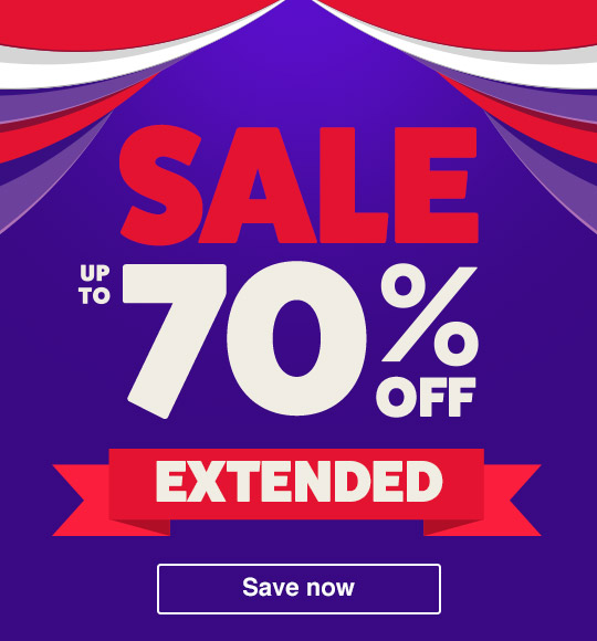 Sale Up to 70% Off Extended