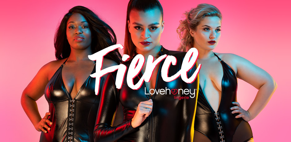 Fierce by Lovehoney Lingerie Lead Banner