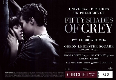Fifty Shades of Grey Premiere Ticket